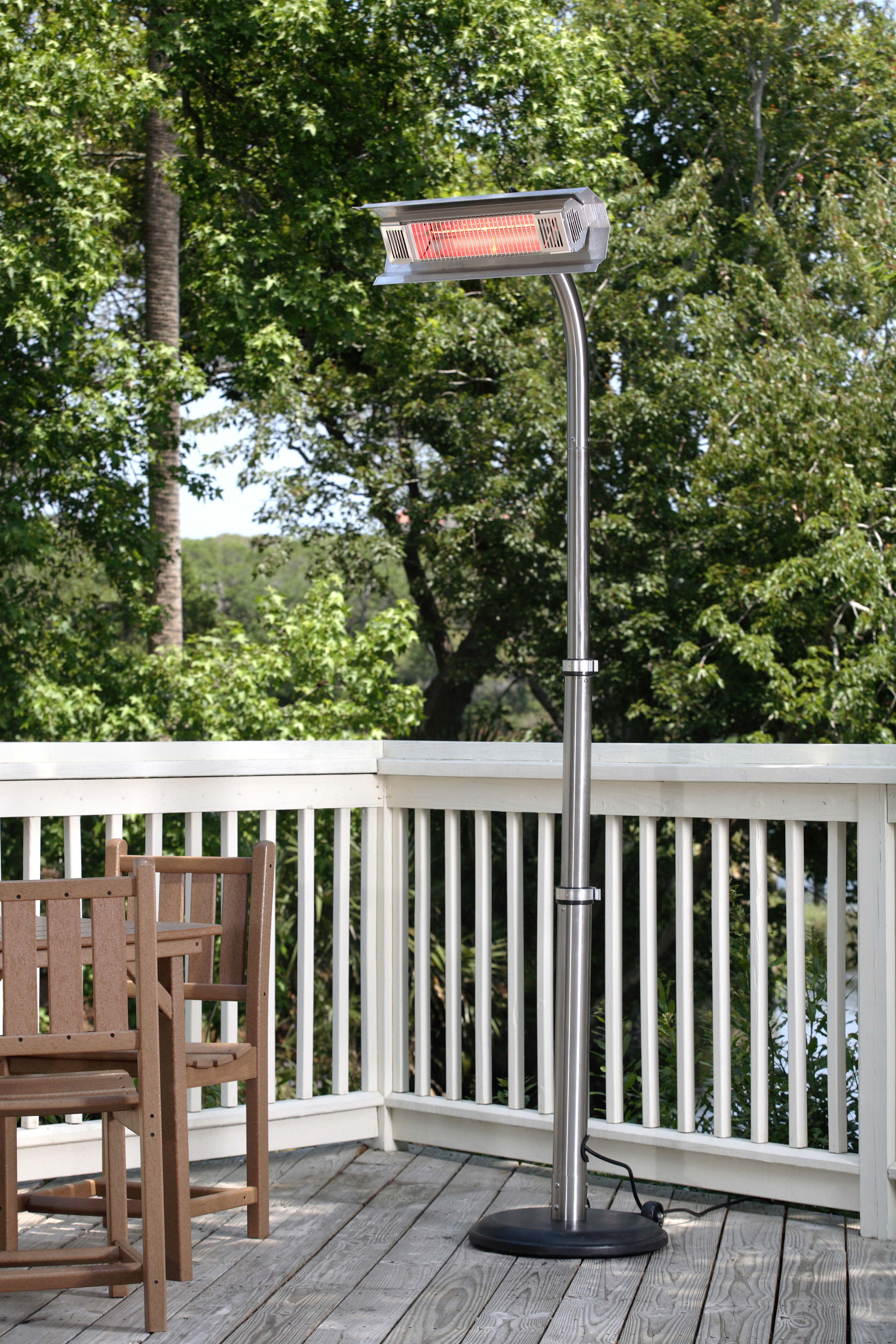Stainless Steel Telescoping Offset Pole Mounted Infrared Patio
