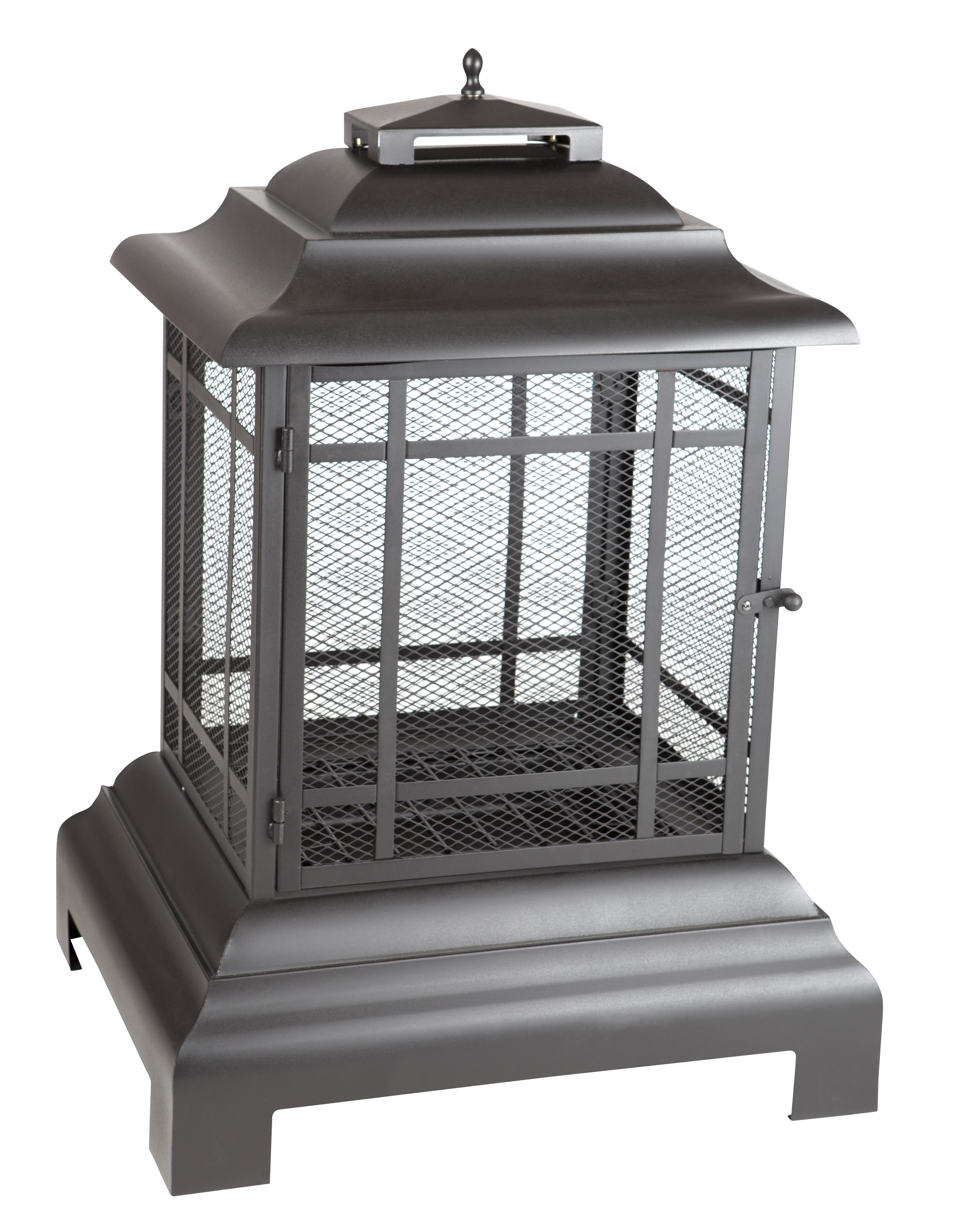 rectangle pagoda patio fireplace well traveled living