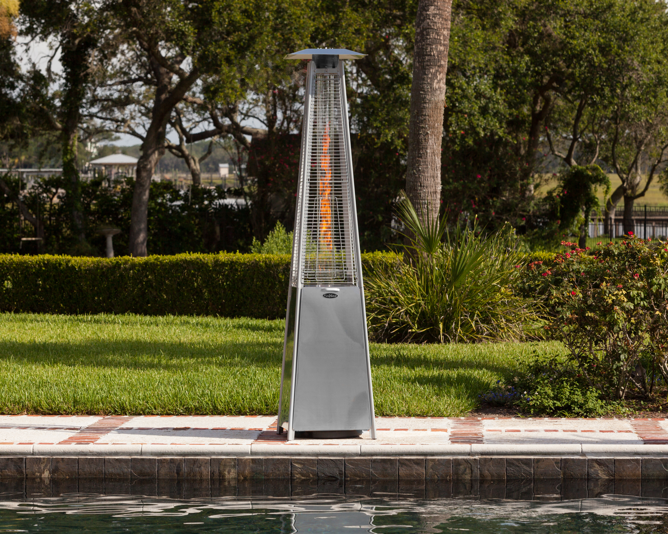 Stainless Steel Pyramid Flame Heater Well Traveled Living