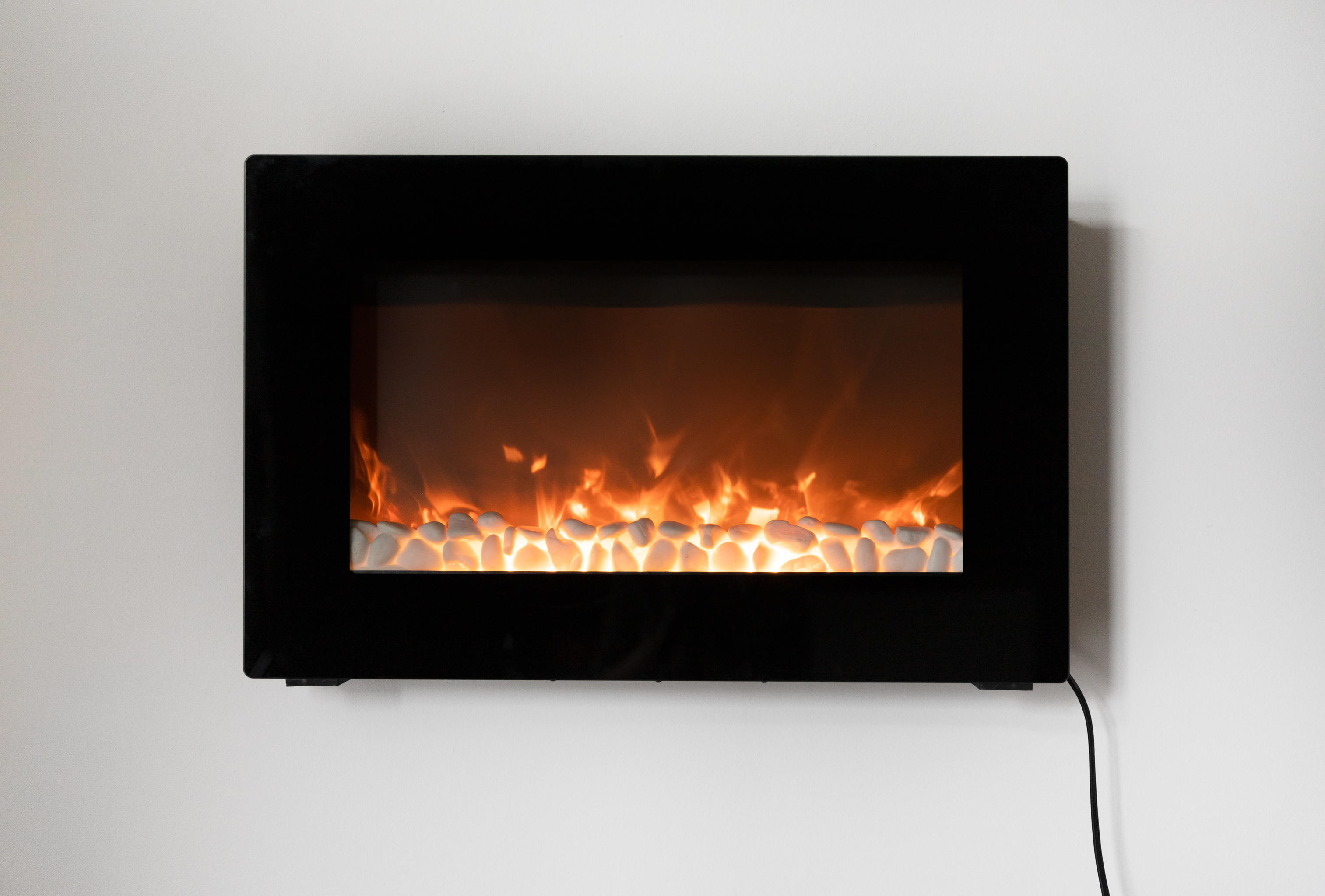 Black Wall Mounted Electric Fireplace Well Traveled Living