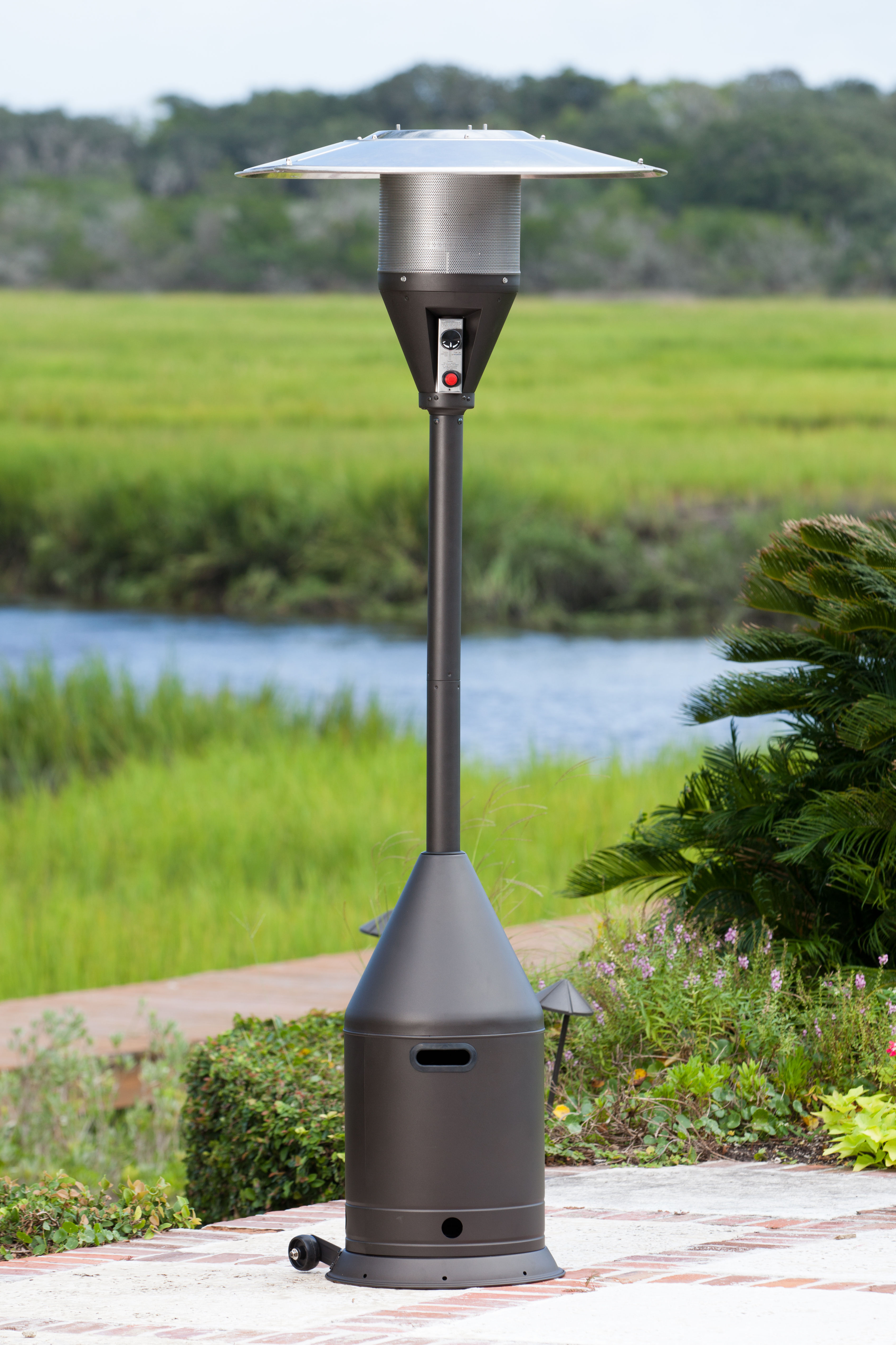 Mocha Select Series Patio Heater Costco Com Exclusive