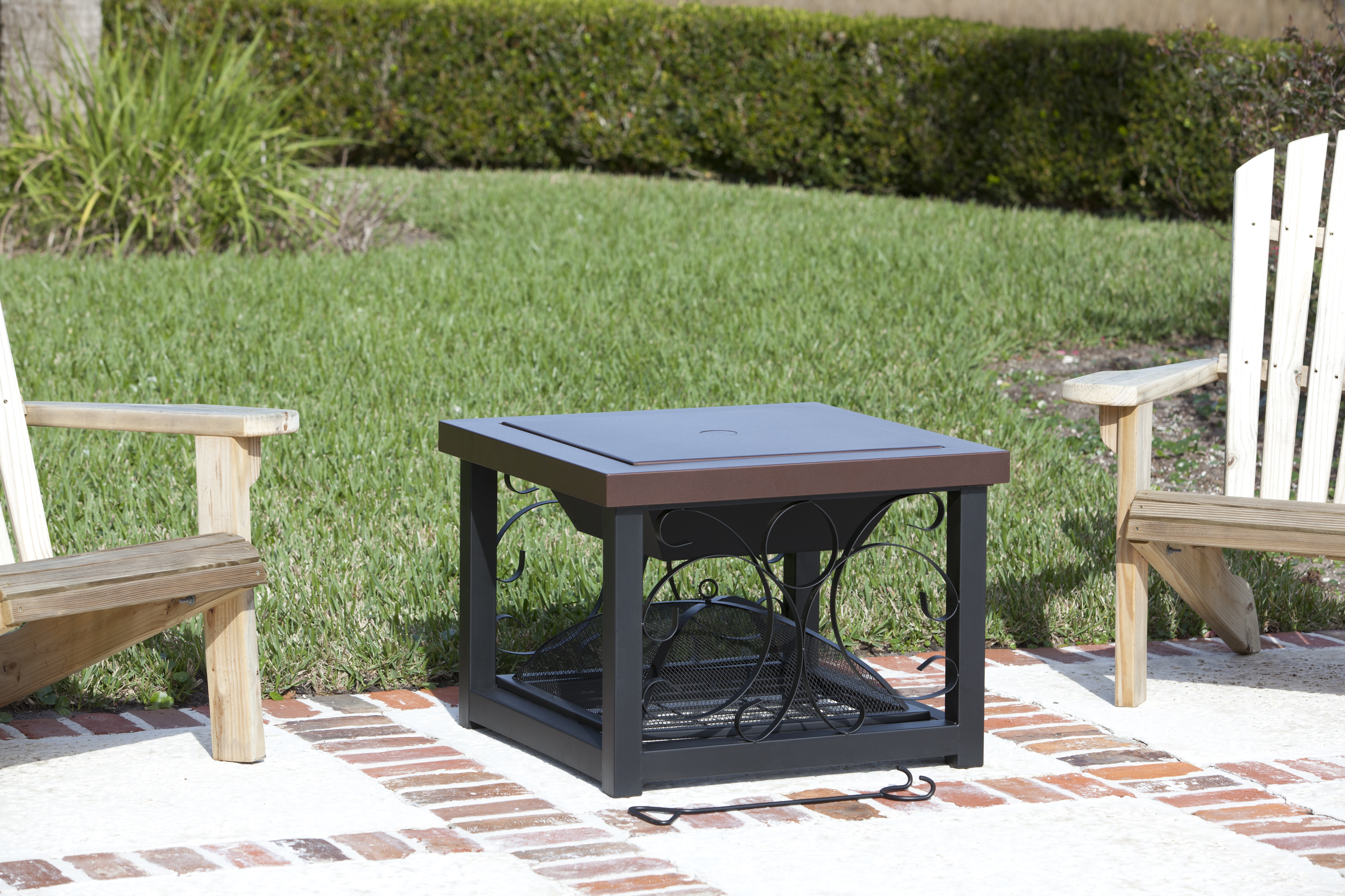 Hammer Tone Bronze Finish Tail Table Fire Pit Costco Com Exclusive