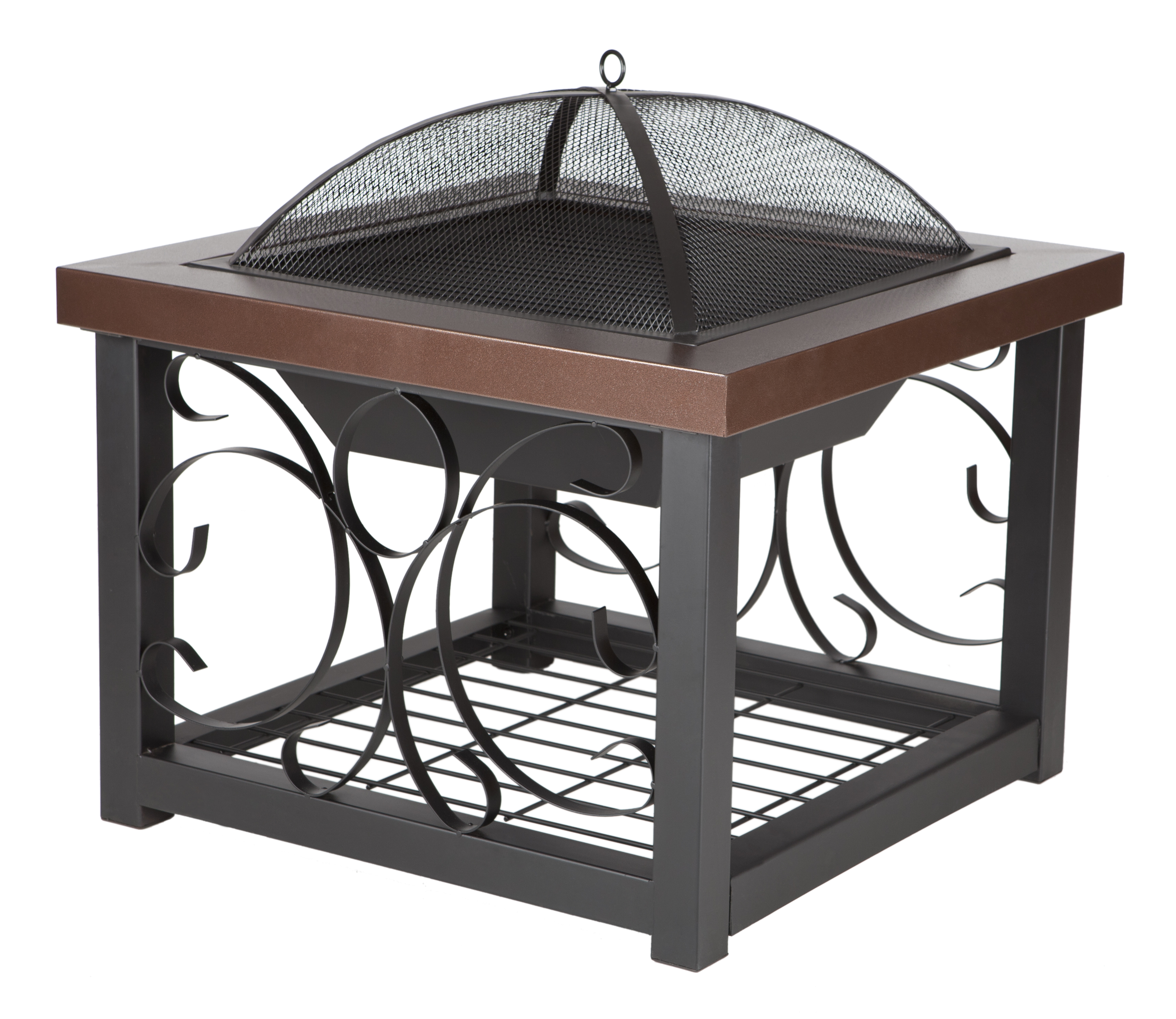 Hammer Tone Bronze Finish Cocktail Table Fire Pit Costco