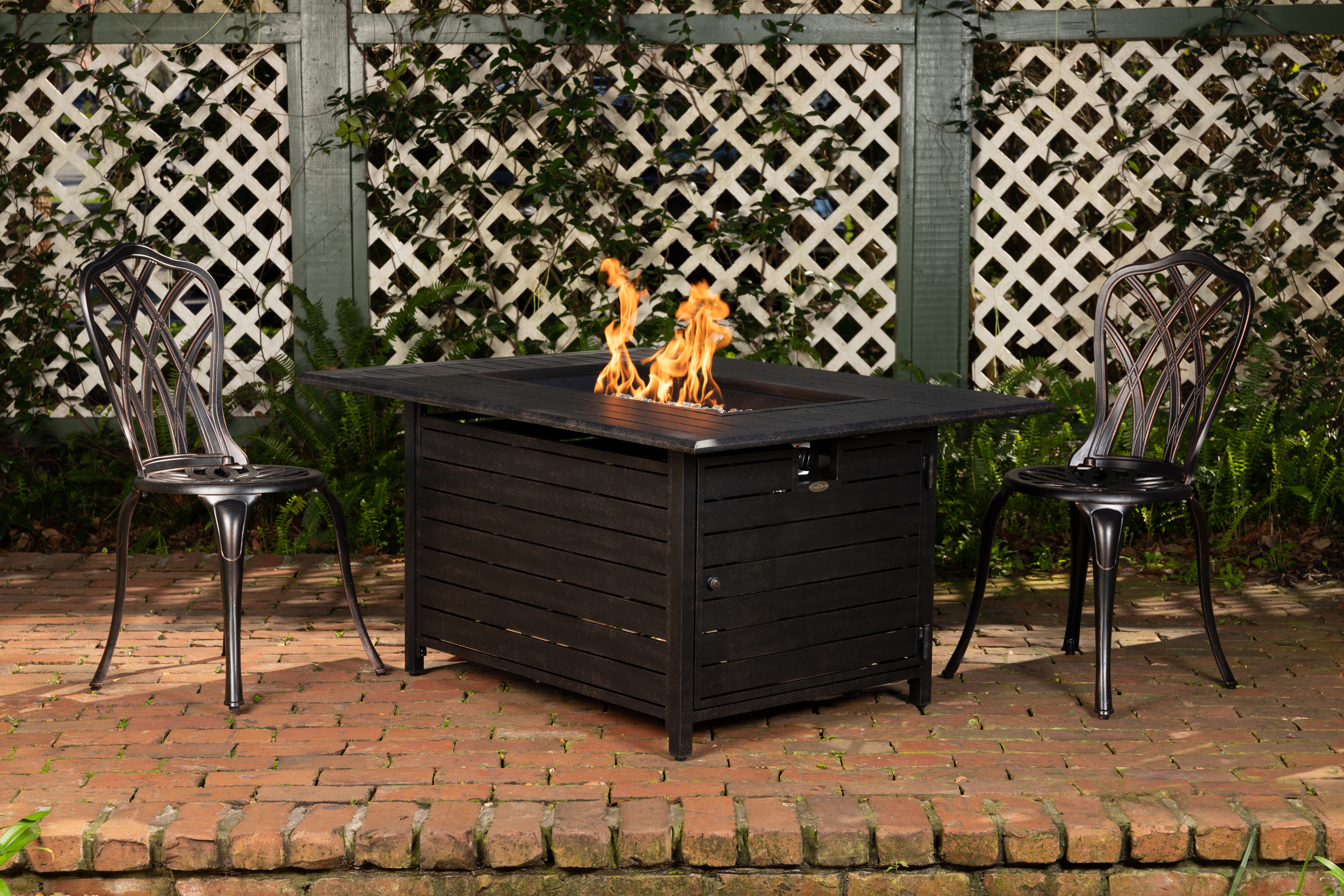 Longmont Aluminum Rectangular Lpg Fire Pit Well Traveled