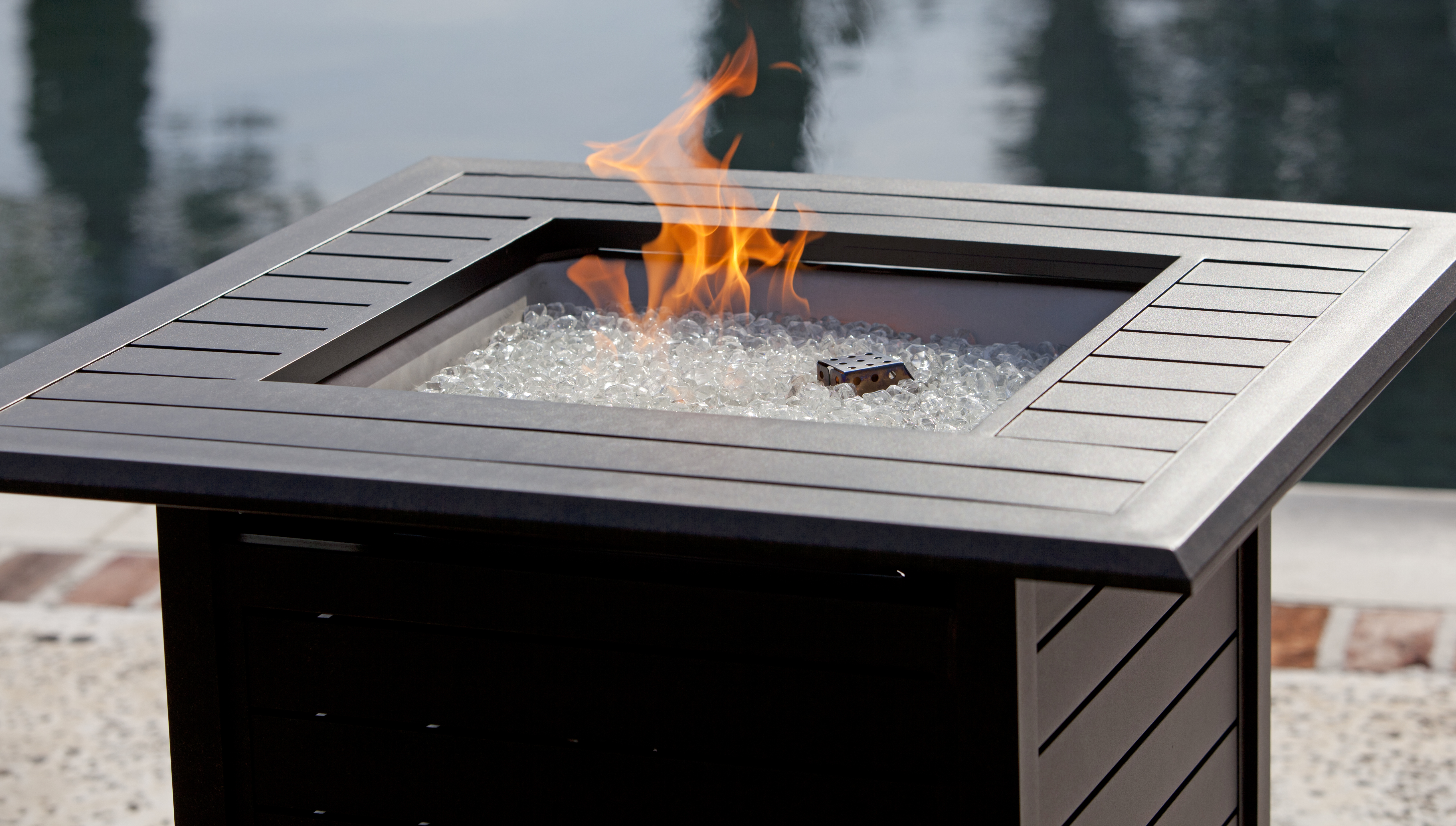 Donato Extruded Aluminum Vbistro Lpg Fire Pit Well