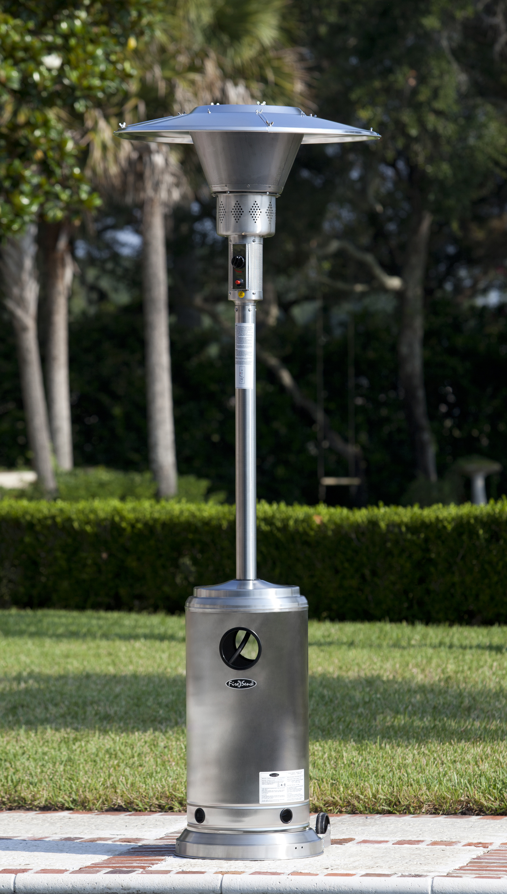 Stainless Steel Prime Round Patio Heater Well Traveled