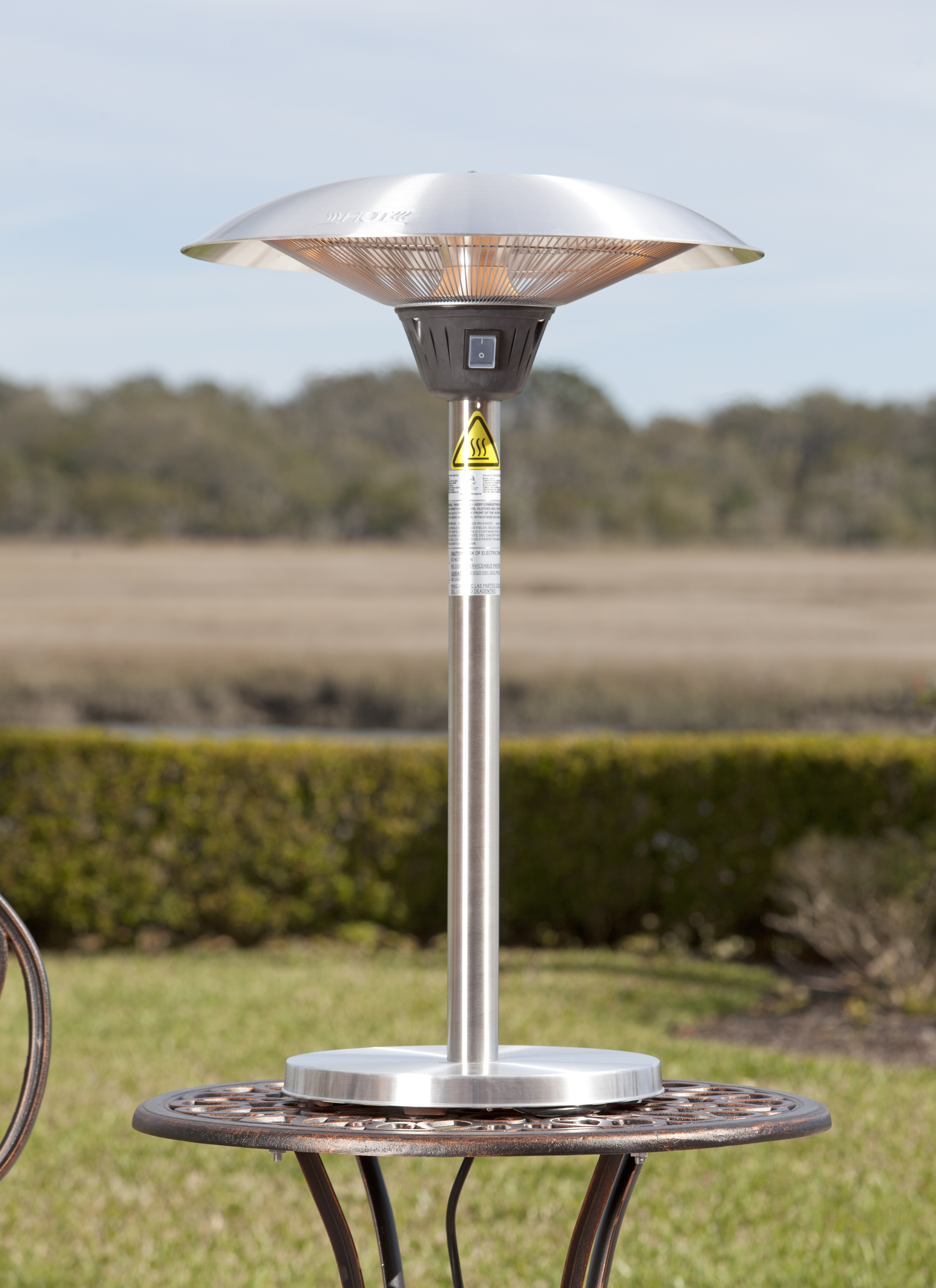 Cimarron Stainless Steel Table Top Halogen Patio Heater Well