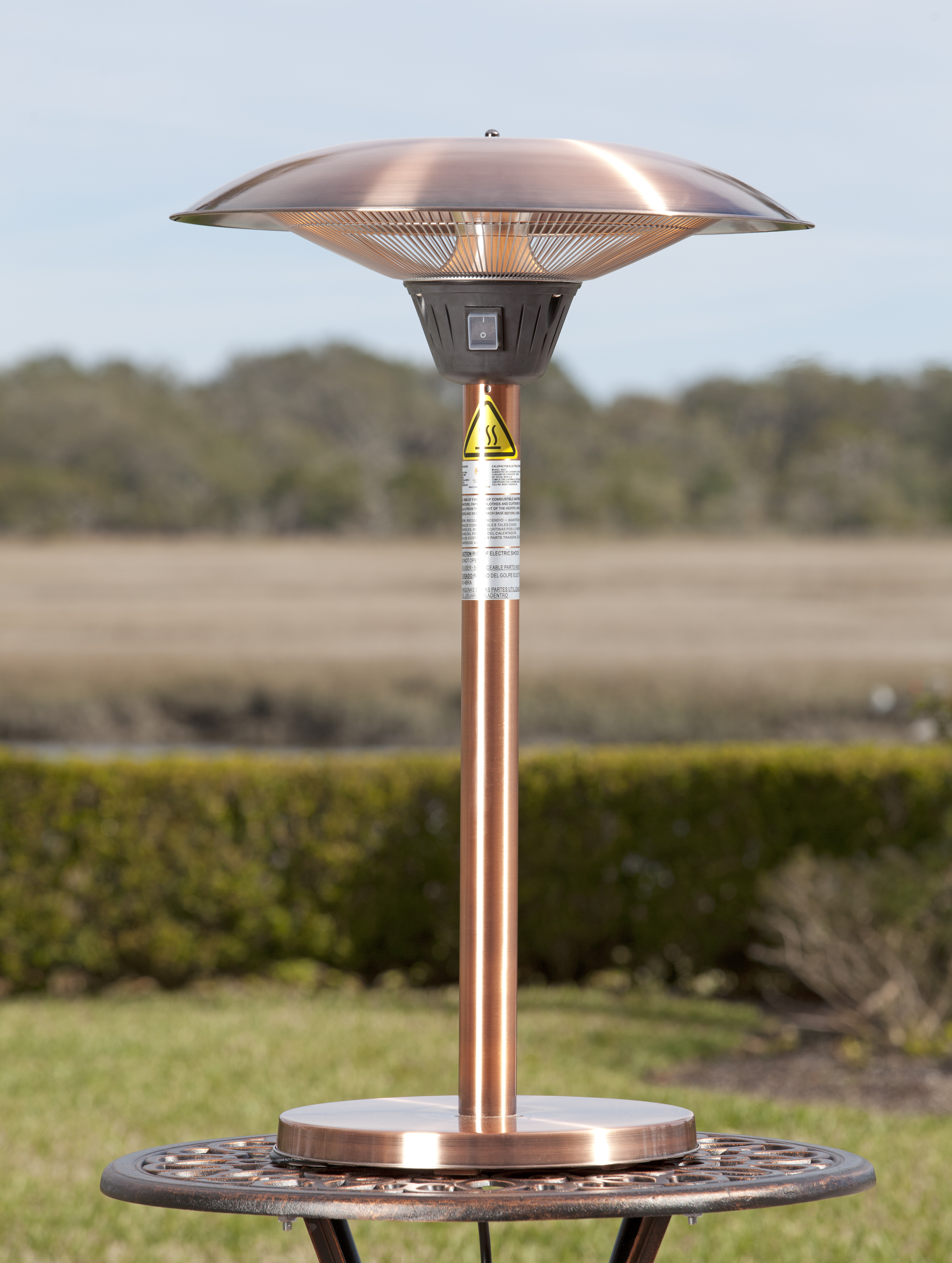 Firefly Electric Tabletop Patio Heater - Patio Ideas