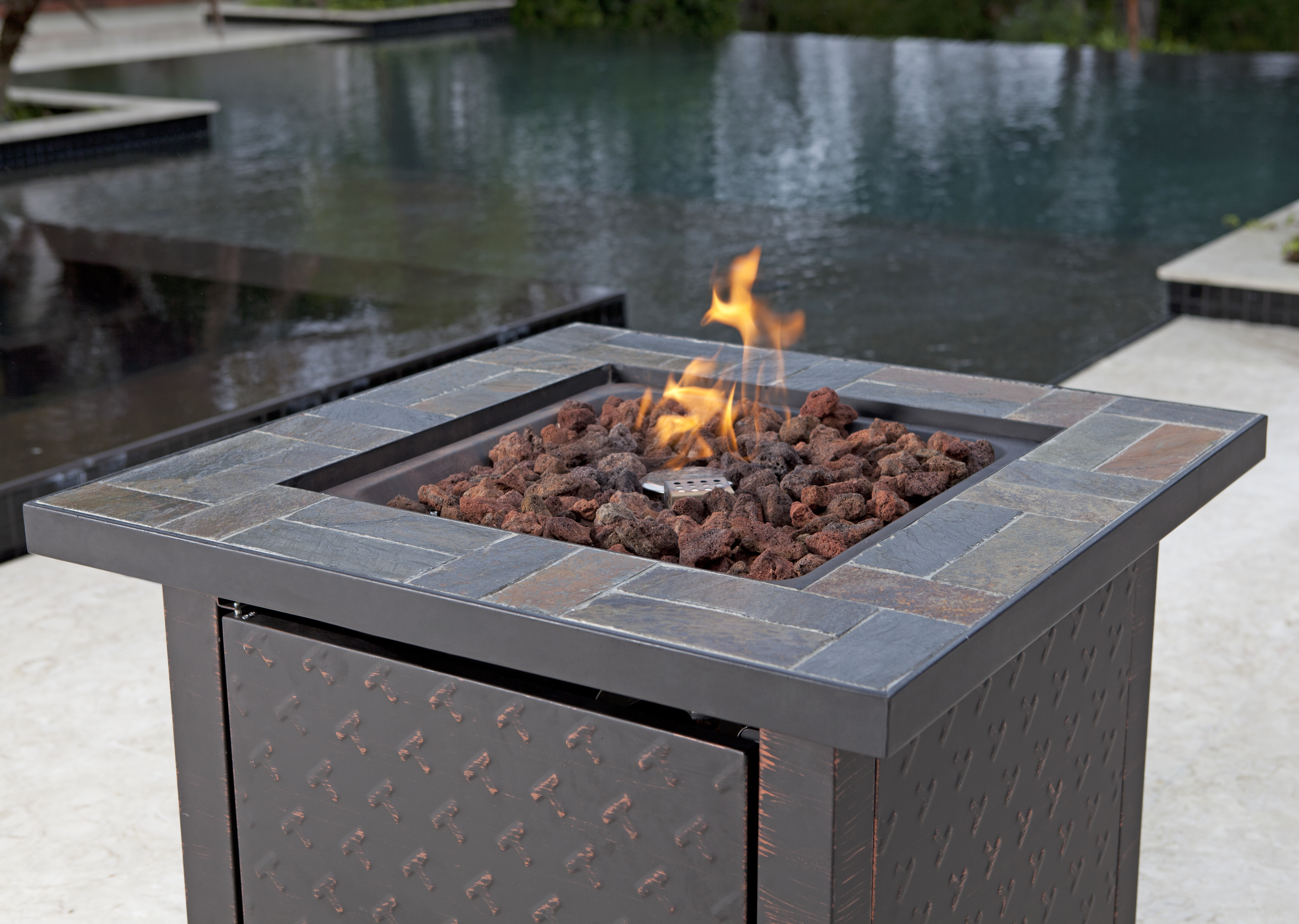 Penbrook Slate Top Lpg Fire Pit Well Traveled Living