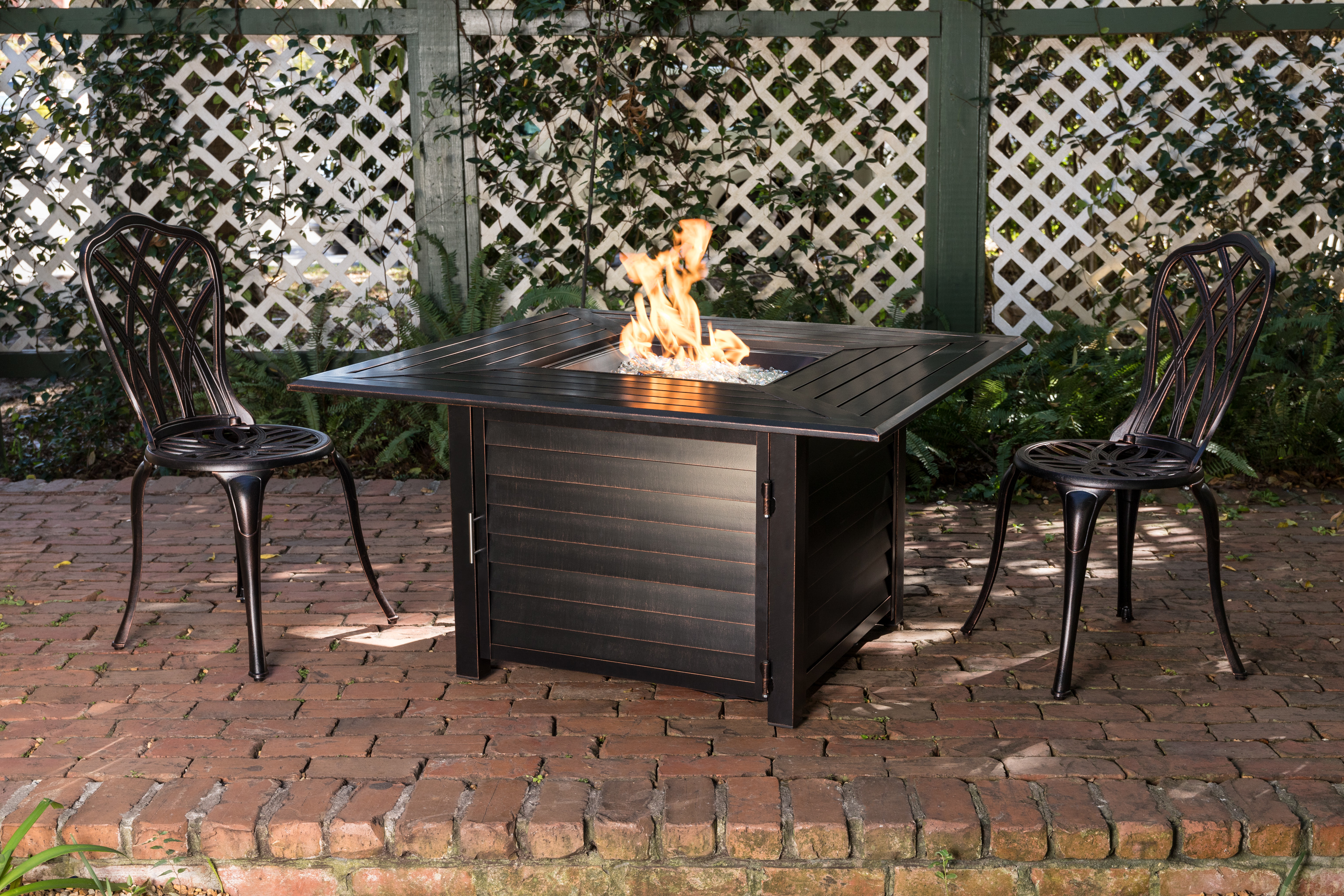 Palmetto Aluminum Square Lpg Fire Pit Well Traveled Living