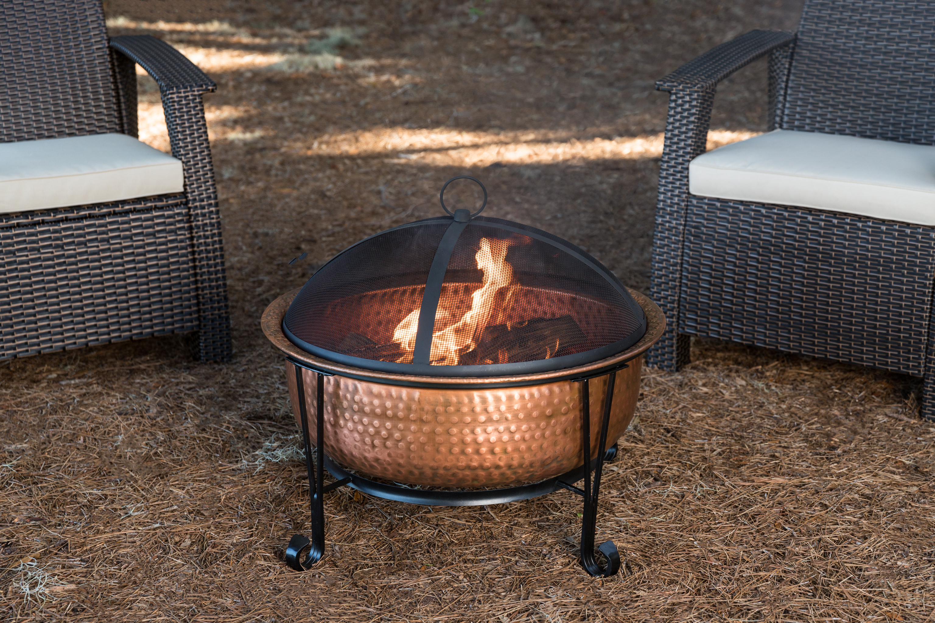 Palermo Copper Fire Pit Well Traveled Living