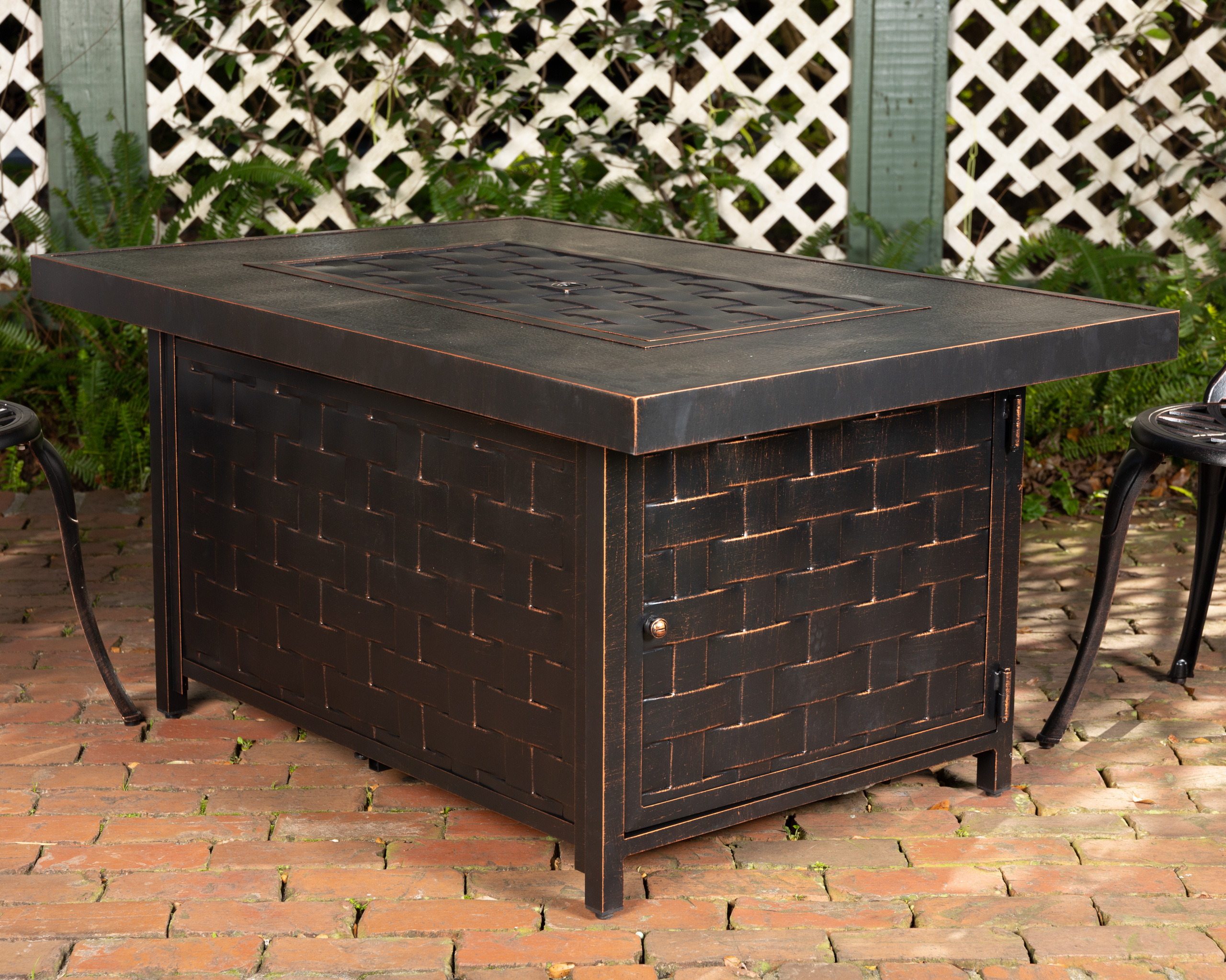 Armstrong Rectangular Aluminum Lpg Fire Pit Well