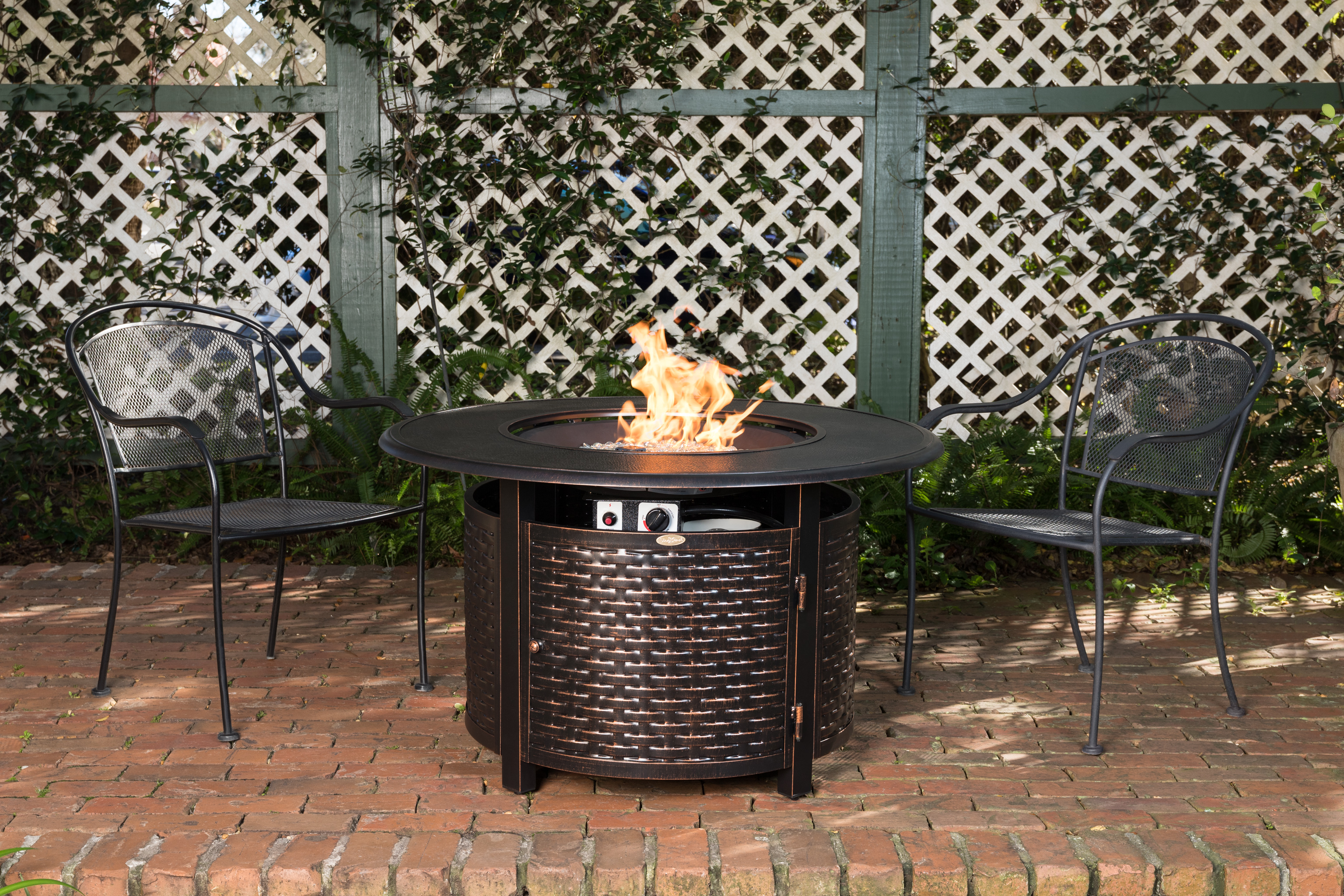 Baker Round Aluminum Lpg Fire Pit Well Traveled Living