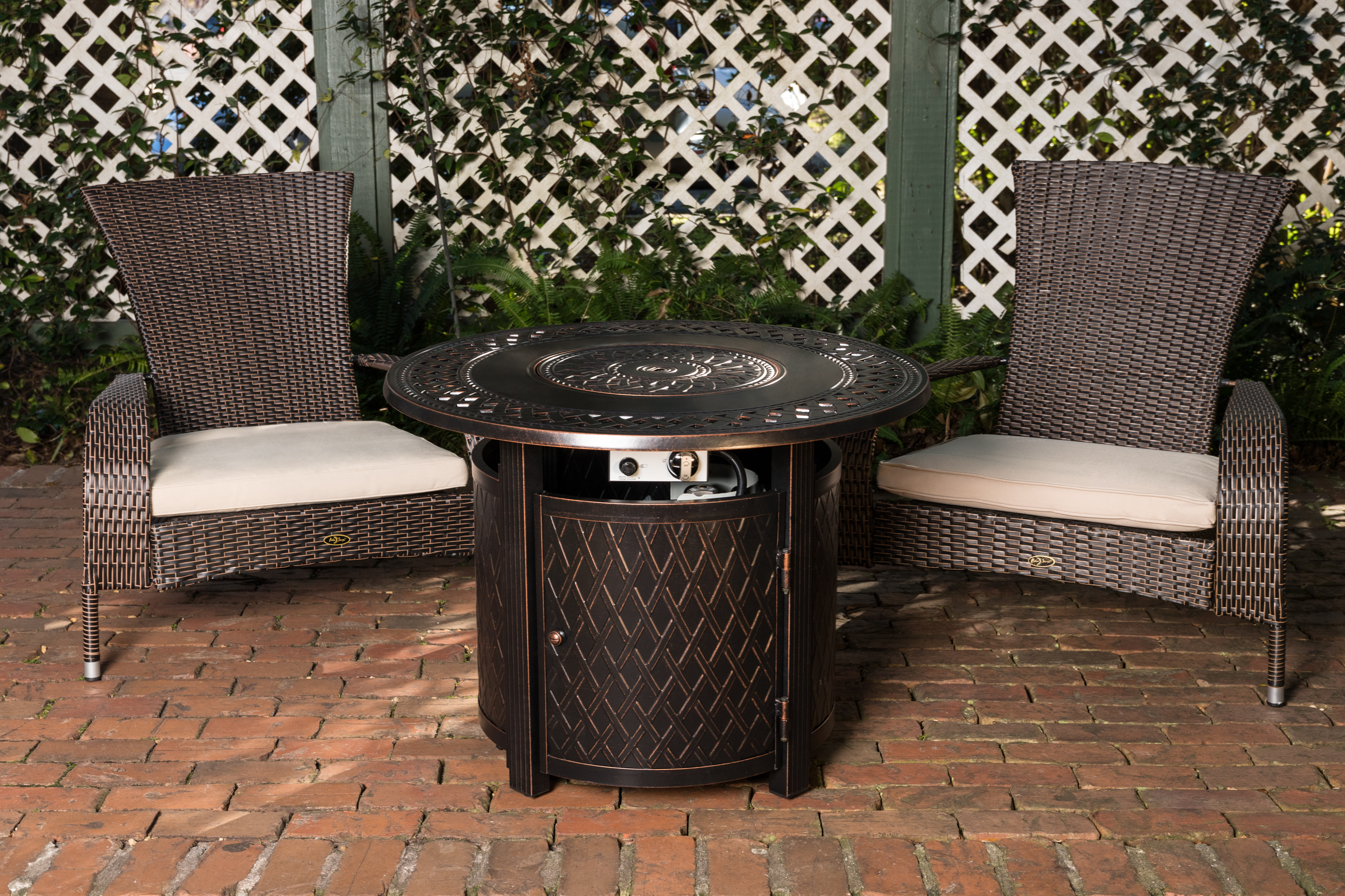 Wagner Aluminum Round Lpg Fire Pit Well Traveled Living