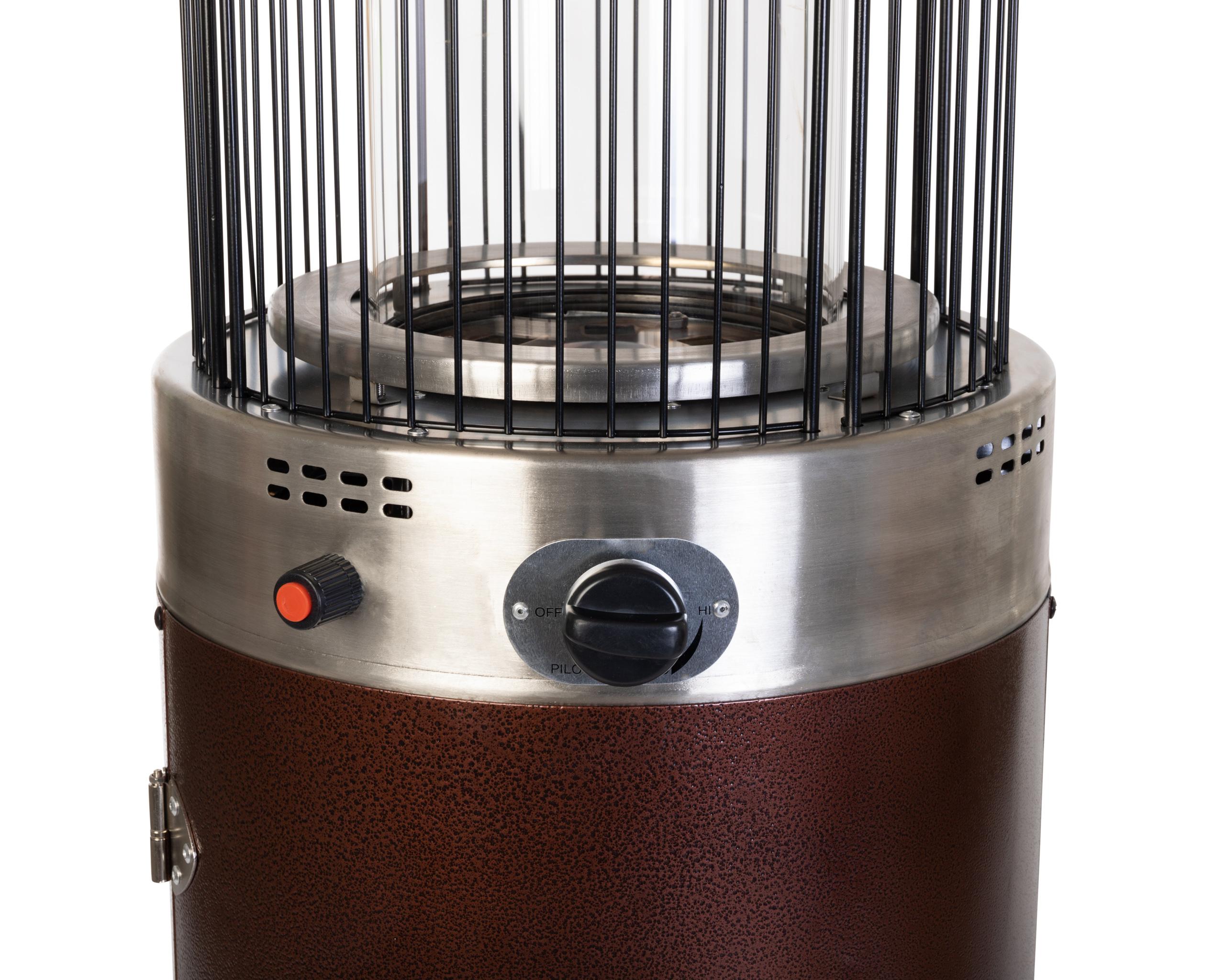 Hammered Bronze Spiral Flame Patio Heater Costco Com