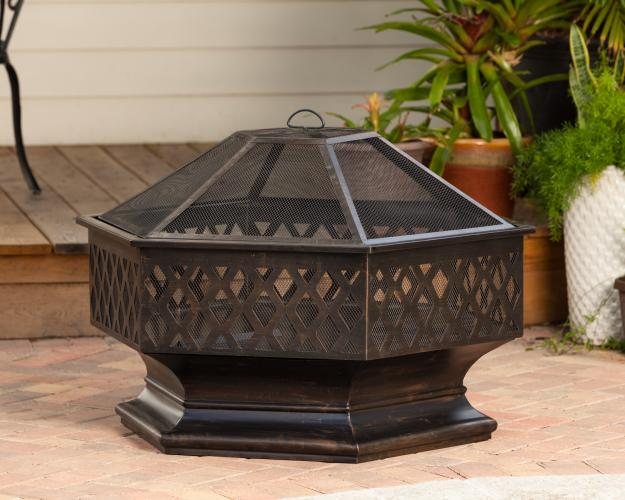 Ventura Hexagon Wood Burning Fire Pit Well Traveled Living