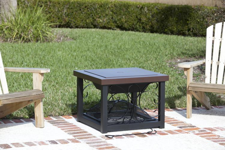 Hammer Tone Bronze Finish Cocktail Table Fire Pit — Costco ...