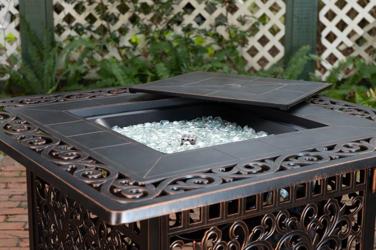 Sedona Square Cast Aluminum Fire Pit Well Traveled Living