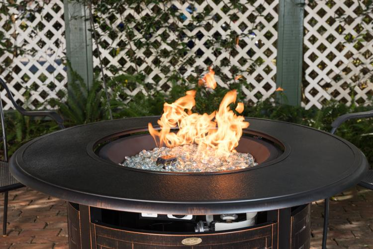 Armstrong Round Aluminum Lpg Fire Pit Well Traveled Living