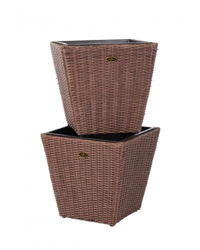 Piazza 2 Piece Wicker Planter Set Well Traveled Living